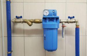 Монтаж фильтра для воды